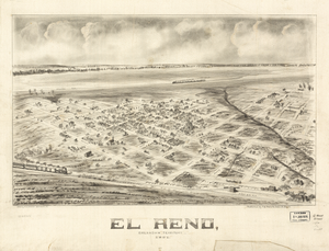 El Reno, Oklahoma - Panoramic map of El Reno, 1891