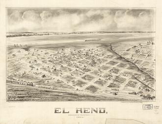 El Reno, Oklahoma - Panoramic map of El Reno, 1891