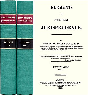 Theodric Romeyn Beck - Elements of Medical Jurisprudence