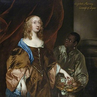 Black British - A 1651 painting of Scottish noblewoman Elizabeth Maitland, Duchess of Lauderdale with her black servant.