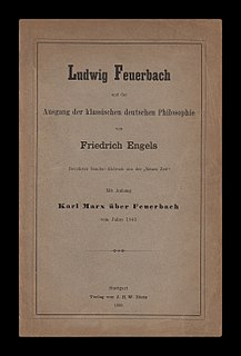 Theses on Feuerbach literary work