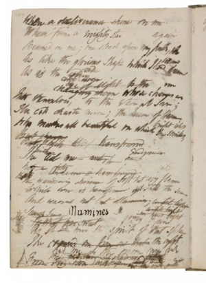 "Epipsychidion -  1820–21 draft of ""Epipsychidion"", Bodleian Library, Oxford."