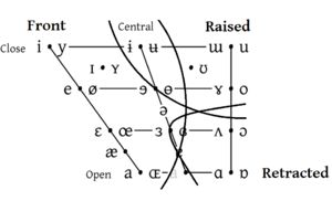 Vowel - Front, raised and retracted are the three articulatory dimensions of vowel space