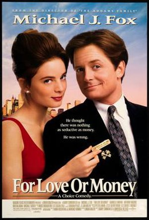 For Love or Money (1993 film) - Theatrical release poster