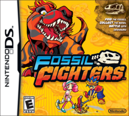North American front cover of Fossil Fighters.