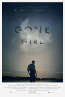 <i>Gone Girl</i> (film) 2014 film by David Fincher