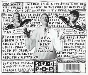 The Full-Custom Gospel Sounds of the Reverend Horton Heat - Image: Gospel back lg