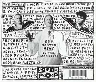 The Full-Custom Gospel Sounds of the Reverend Horton Heat - Image: Gospel back lg