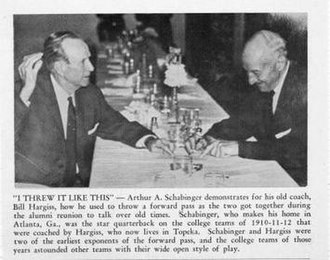 Homer Woodson Hargiss - Hargiss and Arthur Schabinger reminisce about the early days of the forward pass at a C of E reunion