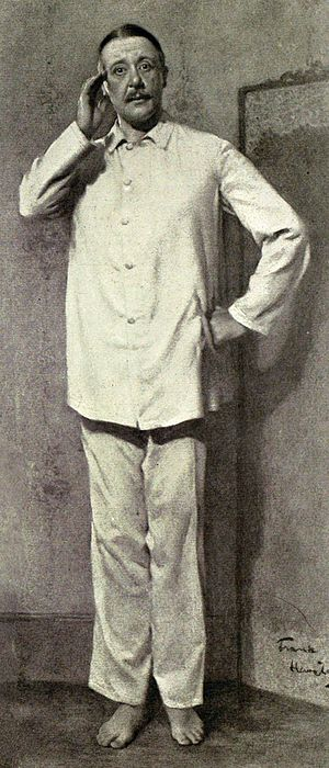 "Charles Hawtrey (actor born 1858) - Hawtrey in what the Illustrated London News called ""essentially a Charles Hawtrey part"", in Inconstant George (1910)"