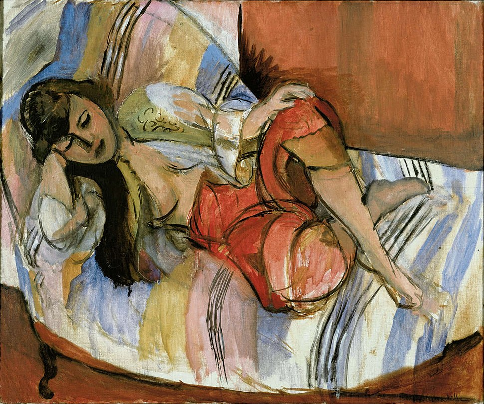 Henri Matisse, 1920-21, Odalisque, oil on canvas, 61.4 x 74.4 cm, Stedelijk Museum