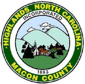 Highlands, North Carolina - Image: Highlands Logo