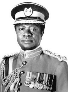 Ignatius Kutu Acheampong Soldier and former military Head of state of Ghana