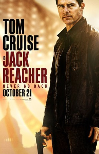 Jack Reacher: Never Go Back - Theatrical release poster