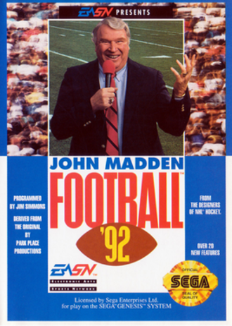 John Madden Football '92 - Image: John Madden Football '92 Coverart