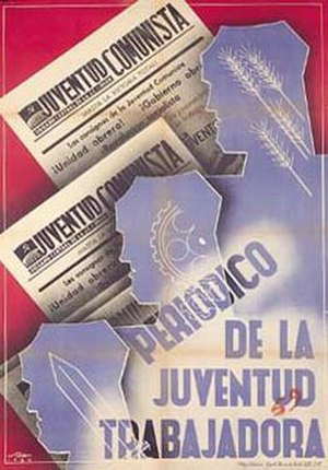 Juventud Comunista (newspaper) - Image: Juventud Comunista (JCI newspaper) poster