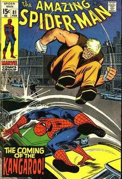 The Kangaroo makes his first appearance. From The Amazing Spider-Man #81