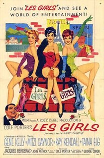 <i>Les Girls</i> 1957 musical comedy film directed by George Cukor
