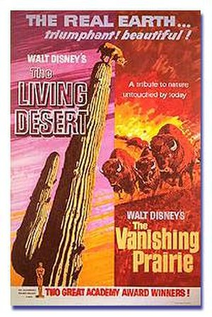 The Living Desert - Film poster for the double-feature release of The Living Desert and The Vanishing Prairie