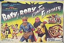 "Lobby card for the Mexican film release of ""Rat Pfink a Boo Boo"".jpg"