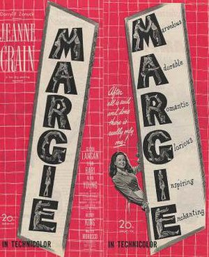 Margie (film) - Theatrical release poster