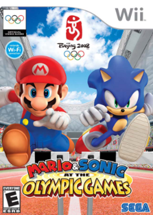 Mario & Sonic at the Olympic Games - North American Wii box art