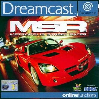 Metropolis Street Racer - Cover art featuring a Opel Speedster and a Fiat Barchetta
