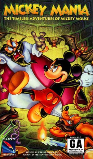 Mickey Mania - Packaging for the Genesis version