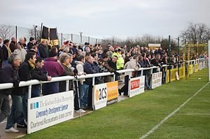 Leamington F.C. - Leamington FC fans on the North Bank Terrace