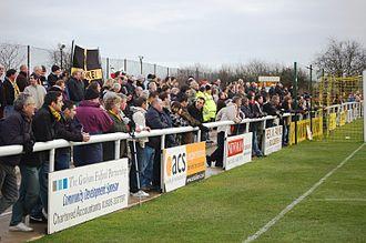 Leamington F.C. - Leamington FC fans on the North Bank Terrace