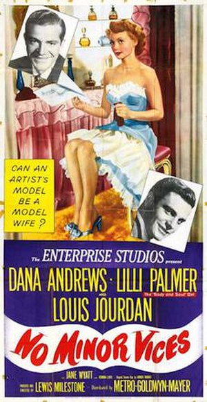 No Minor Vices - 1948 US Theatrical Poster