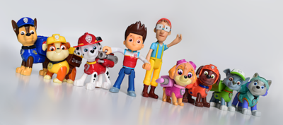 Photograph of a PAW Patrol figure set