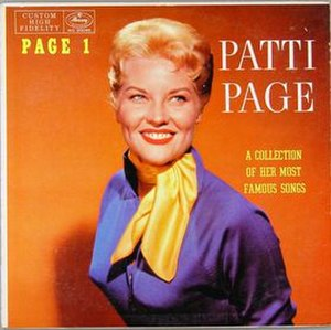 Page One – Sings a Collection of Her Most Famous Songs - Image: Page One – Sings a Collection of Her Most Famous Songs cover