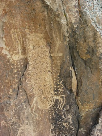 Dubois, Wyoming - Petroglyphs created by the Sheepeater Native Americans who first settled in the Dubois area