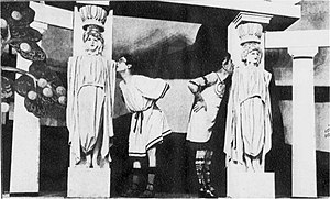 Phi-Phi - Entrance to Phi-Phi's studio, from the 1922 London production