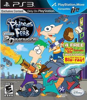 Phineas and Ferb: Across the 2nd Dimension (video game) - Image: Phineas and Ferb Across the Second Dimension PS3