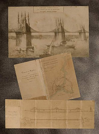 Ottoman Archives - Image: Plans for Abdulhamit Bridge in Istanbul Turkey Publications