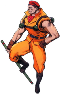 Rolento video game character from the Final Fight and Street Fighter series