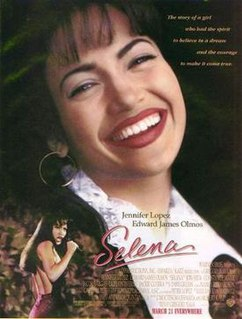 <i>Selena</i> (film) 1997 American biographical drama film about singer Selena directed by Gregory Nava
