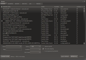 Matchmaking (video games) - The cross-game server browser offered by Steam.