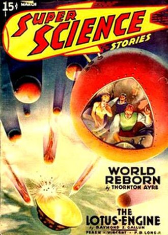 Super Science Stories - First issue cover; artist unknown