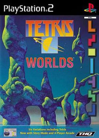 Tetris Worlds - PAL region PlayStation 2 cover art