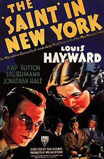 <i>The Saint in New York</i> (film) 1938 film by Ben Holmes