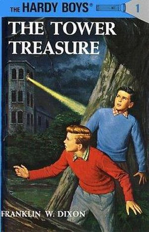 Ghostwriter - Cover of the revised edition of The Tower Treasure, the first Hardy Boys mystery.