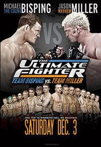 A poster or logo for The Ultimate Fighter: Team Bisping vs. Team Miller Finale.