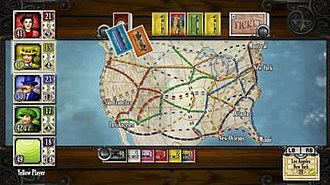 Ticket to Ride (video game) - Gameplay screenshot.