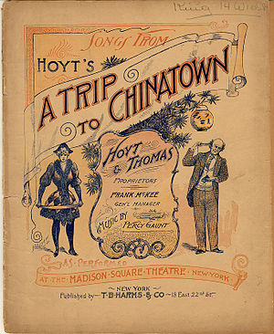 A Trip to Chinatown - Cover of Vocal Score
