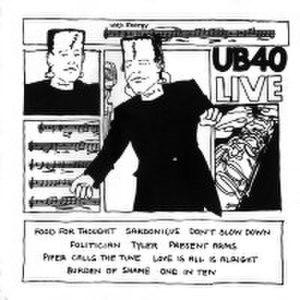 UB40 Live - Image: UB40 Live LPDEP4 1983