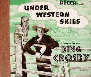 Under Western Skies (album) - Image: Under Western Skies (Bing Crosby album) (album cover)