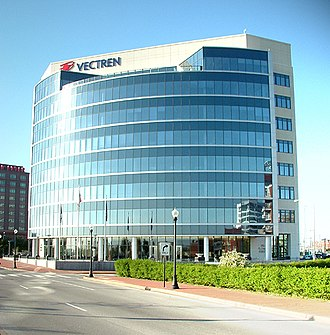 Vectren - Vectren's Riverfront Headquarters in Downtown Evansville.